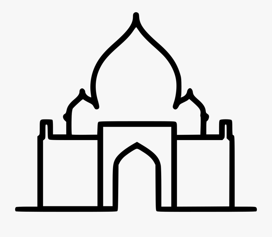 India Tajmahal Comments - Clip Art Taj Mahal, Transparent Clipart
