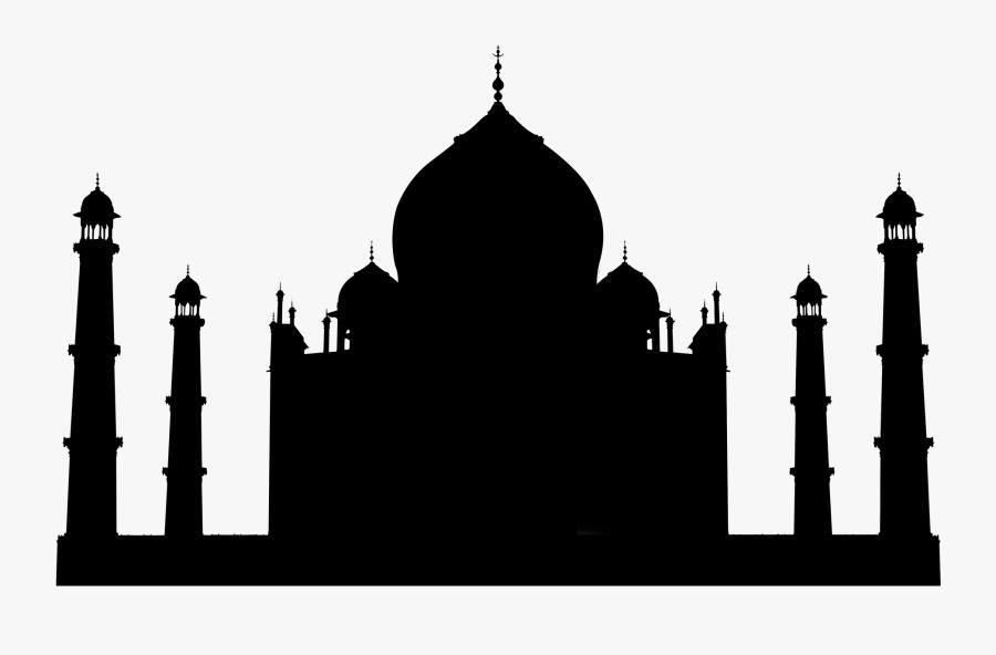 Taj Mahal Silhouette - Taj Mahal, Transparent Clipart