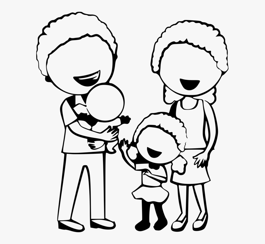 Emotion Love Monochrome Photography Family Cartoon Black And White Png Free Transparent Clipart Clipartkey