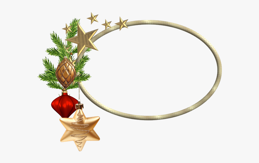 Oval Christmas Frame Png - Oval Christmas Border Png, Transparent Clipart