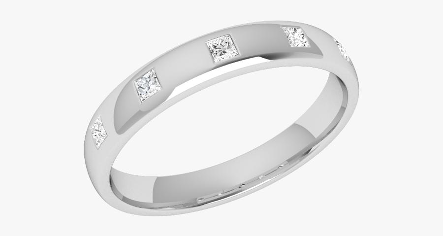 Clip Art Pladium Wedding Rings - Dünne Doppelringe Mit Diamanten, Transparent Clipart