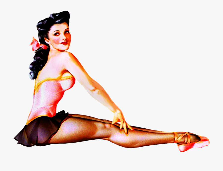 Pin Up Girl Sexy Woman Retro 1940s 1950s - Pin Up Woman Sexy, Transparent Clipart