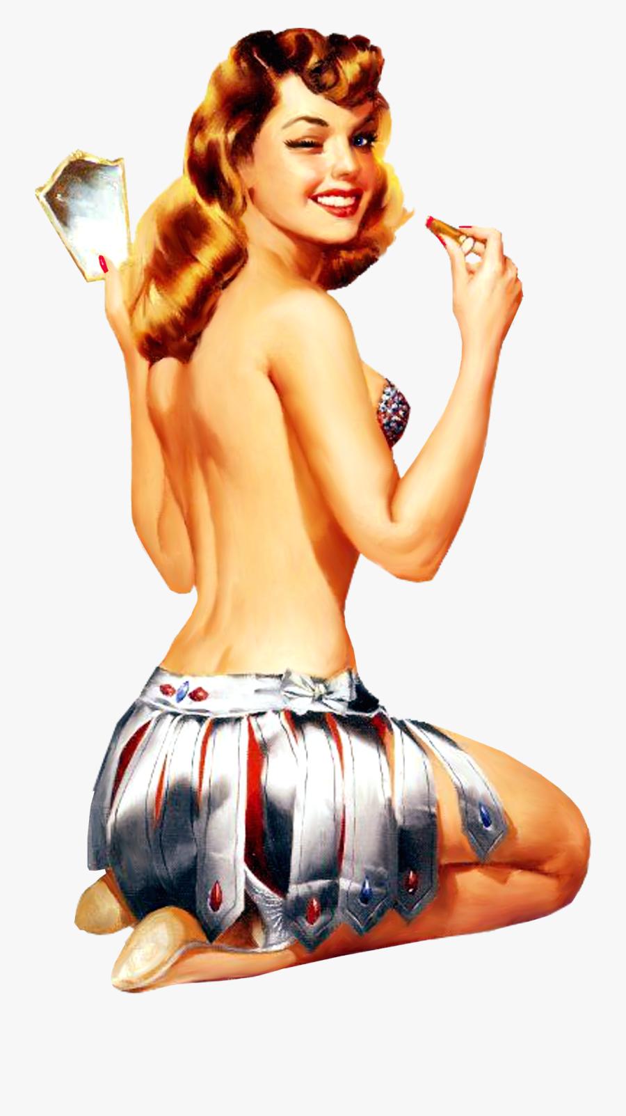 Clip Art Retro Pin Up Girl - Retro Pin Up Png, Transparent Clipart