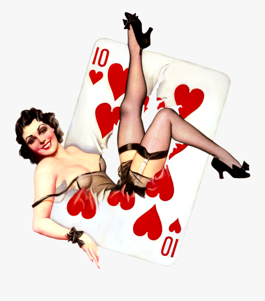 Clip Art Retro Pin Up Girl - Vintage Pin Up Girl Png, Transparent Clipart