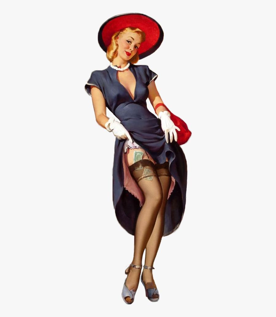 Vintage Woman Png - Vintage Nude Pin Up Png, Transparent Clipart