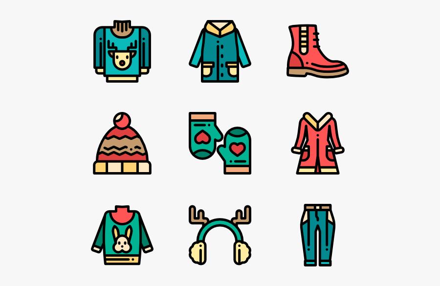 Winter Clothes Icons Free - Winter Clothes Icons Png, Transparent Clipart