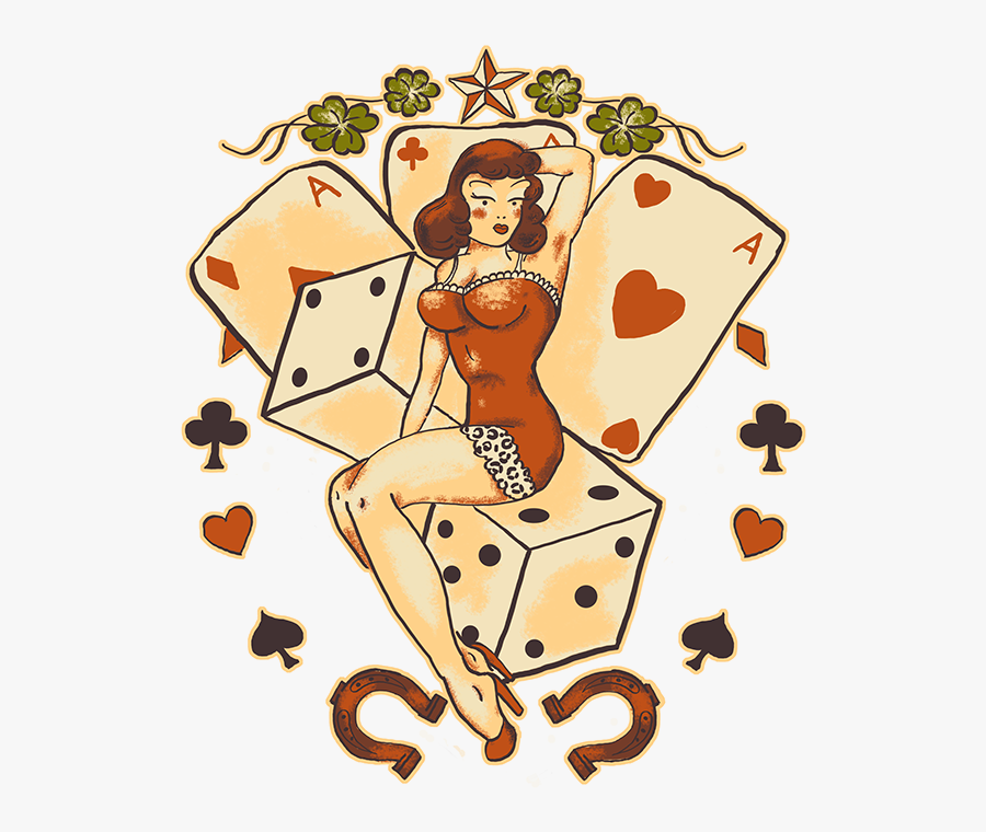 Las Vegas Girl Tattoo, Transparent Clipart