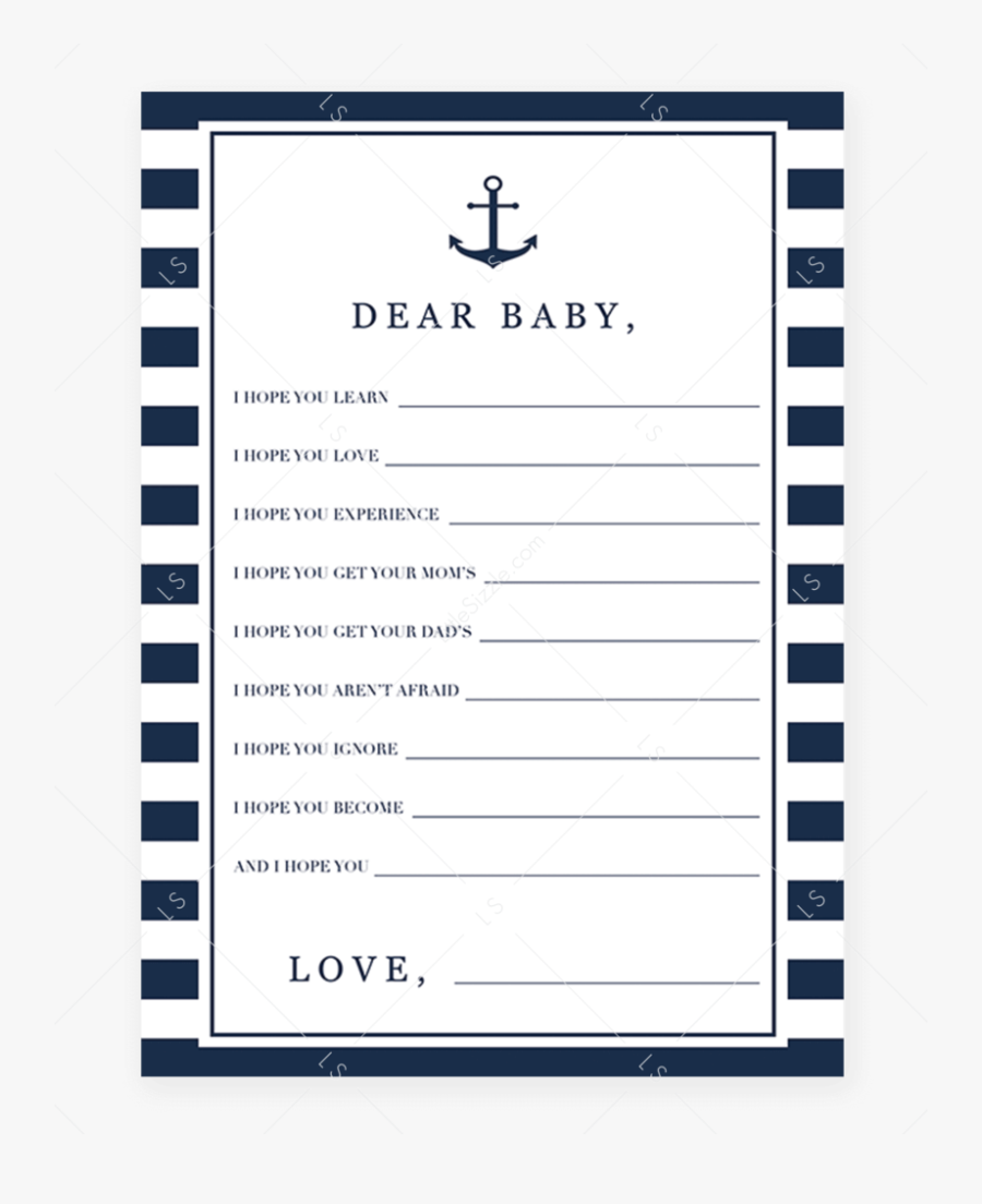 Transparent Ahoy Its A Boy Clipart - Would She Rather Baby Shower Game, Transparent Clipart