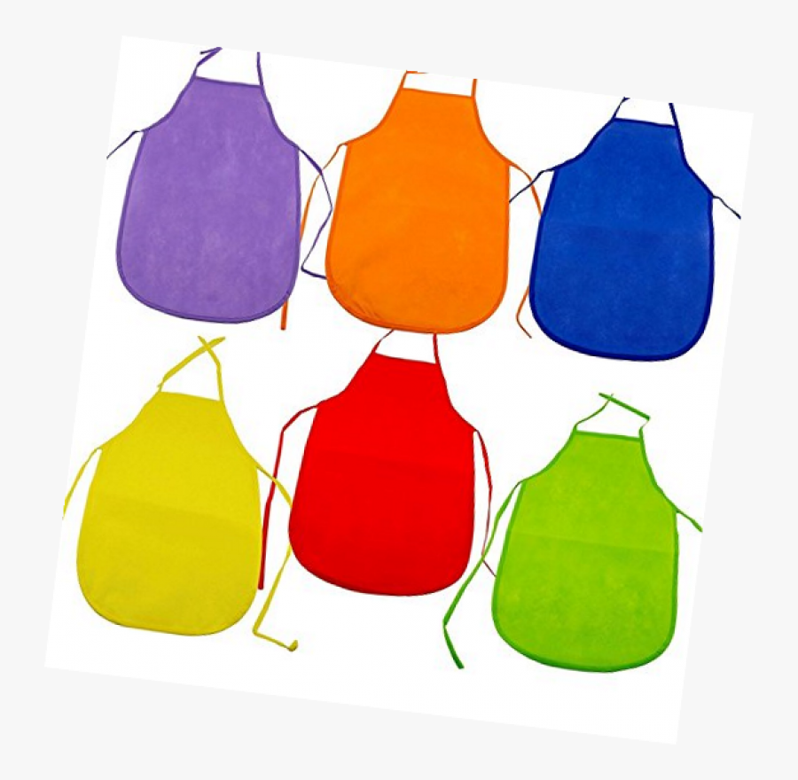 """Adorox 12 Pack Assorted Children""""s Multicolored Aprons - Apron, Transparent Clipart"""