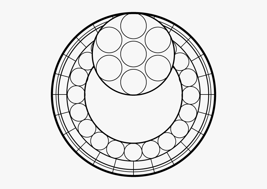 Stained Glass Template Png, Transparent Clipart