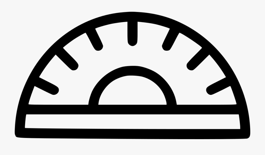 Protractor Angle Geometry Draw Design Tool Png Icon - First Order Logo Png, Transparent Clipart