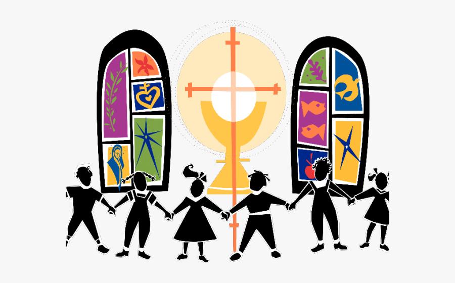 Church Clipart Stained Glass - Children's Mass, Transparent Clipart