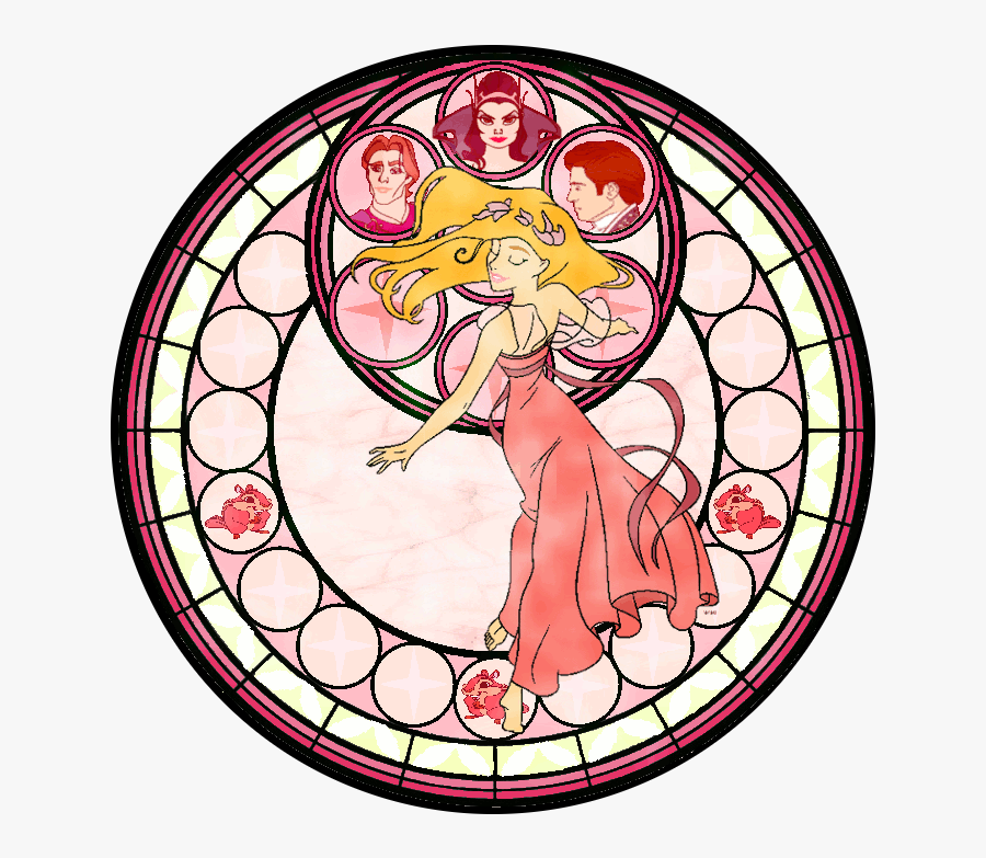 Kingdom Hearts Tiana By Ardennaouvrard On Clipart Library - Kingdom Heart Stained Glass, Transparent Clipart