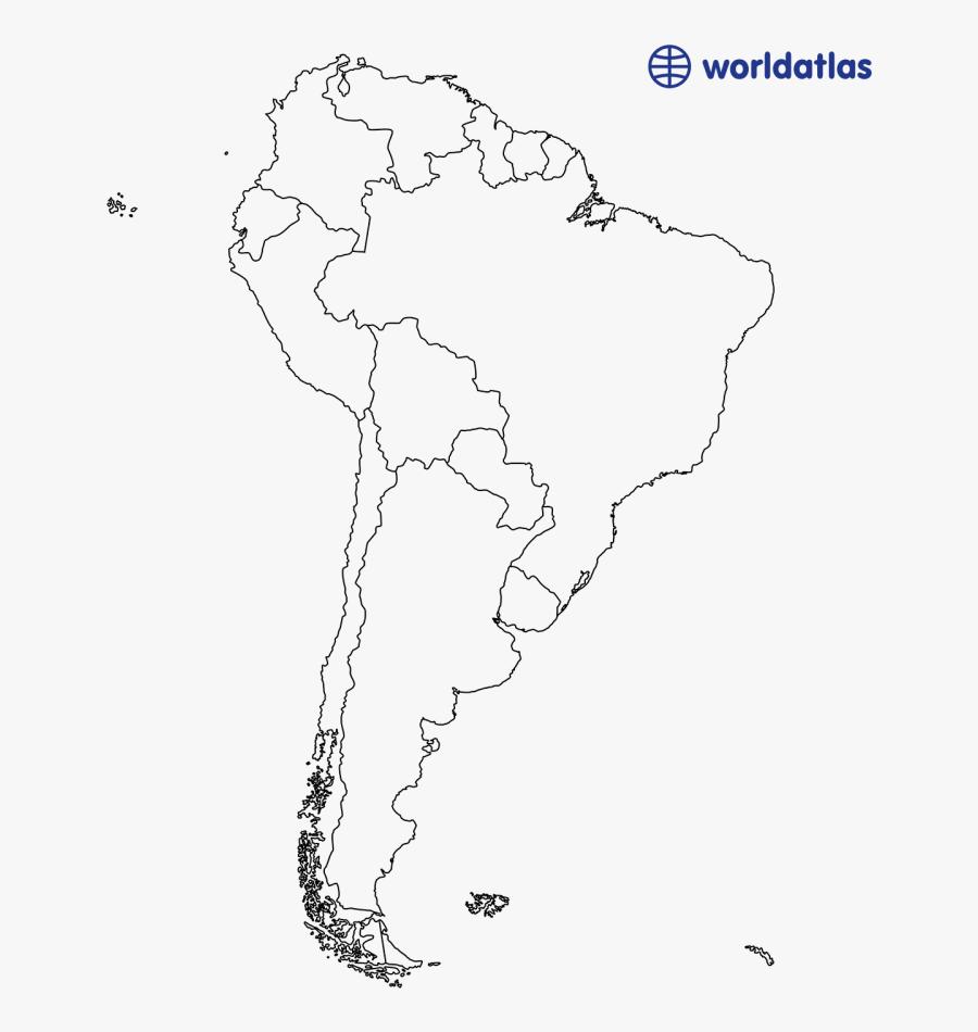 Clip Art Usa Outline Png - South America Border Map, Transparent Clipart