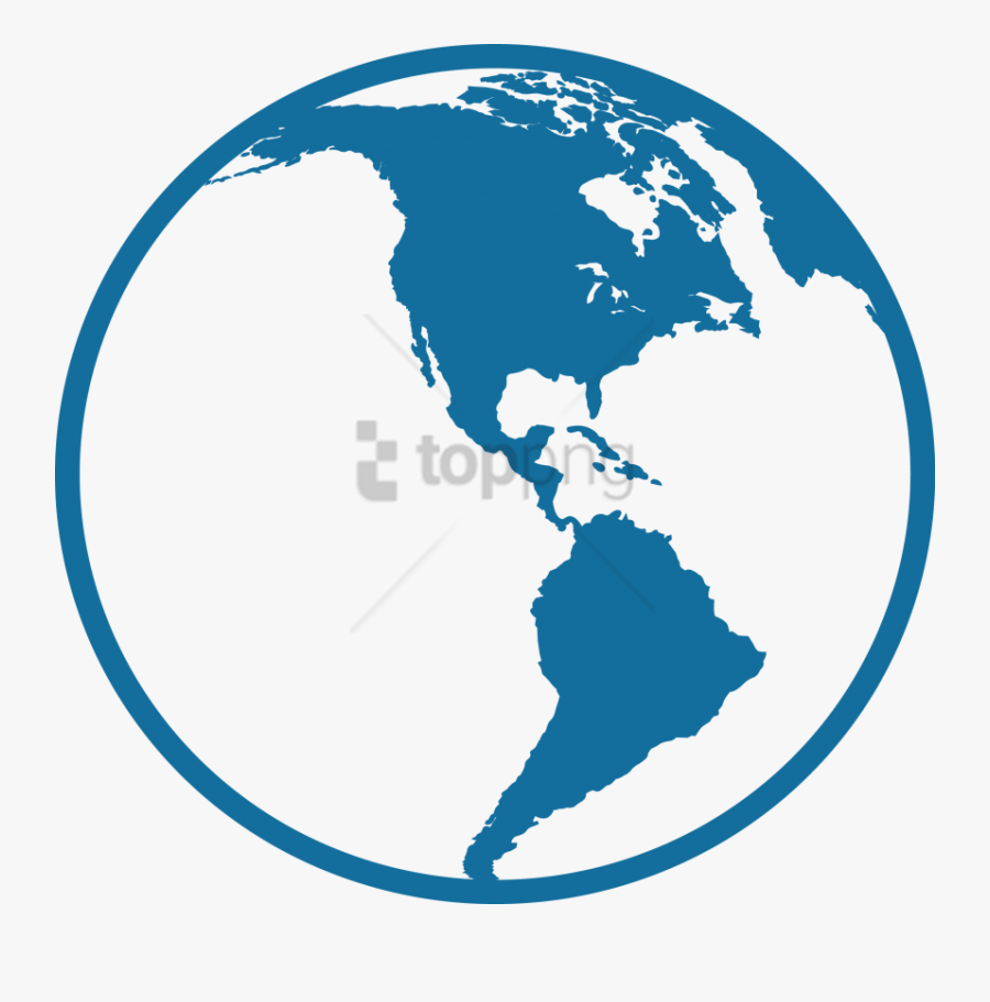 Free Png North And South America Icon Png Image With - Central And South America Icon, Transparent Clipart
