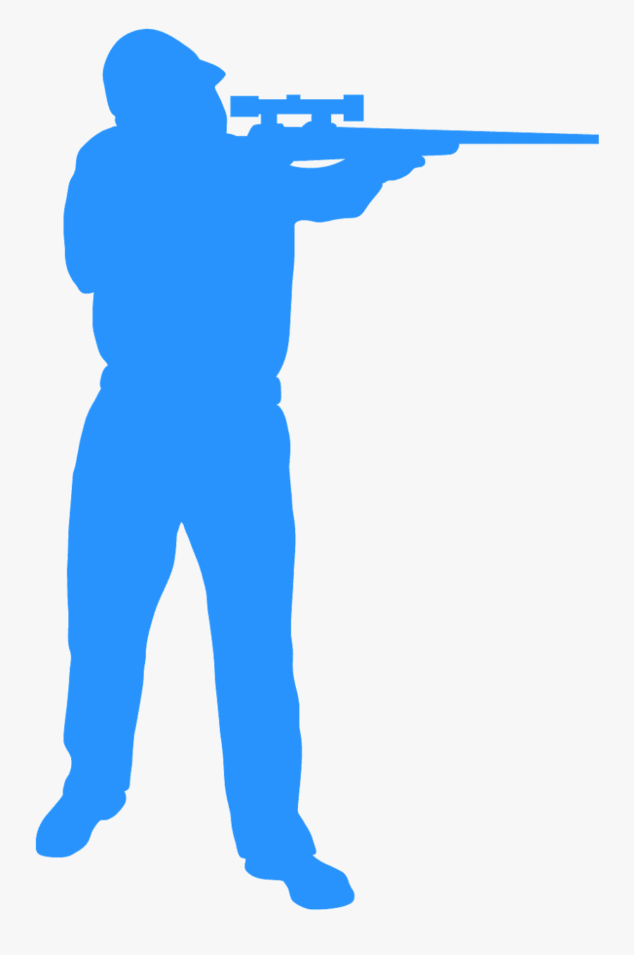 Silhouette Of Hunter Standing Up, Transparent Clipart