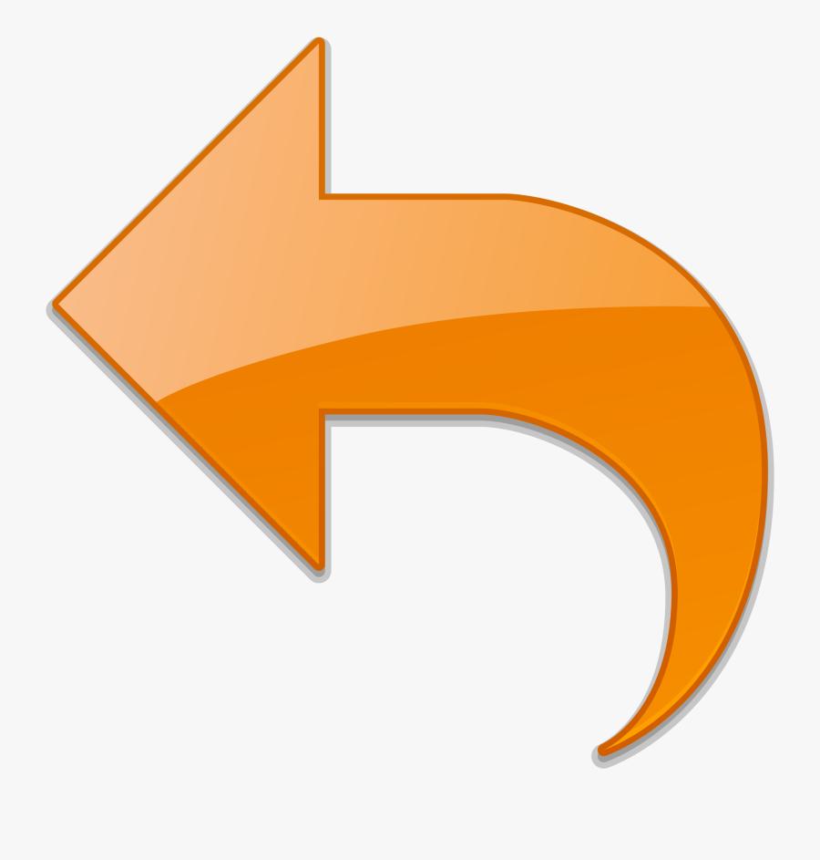 Return Icon Orange Png , Png Download - Return Button Orange, Transparent Clipart