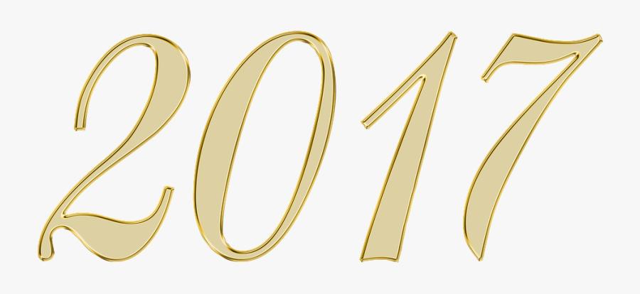 New Year, 2017, Number, Background, Scrapbooking - Imagen Del Numero 2017, Transparent Clipart