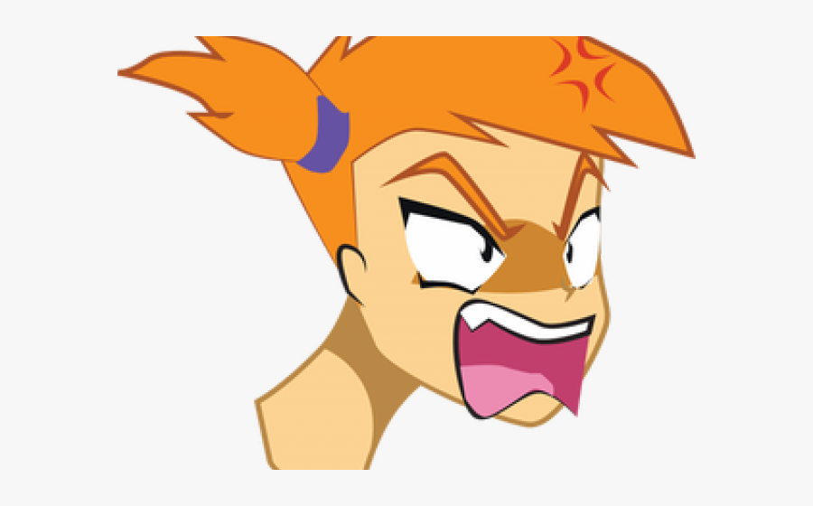 Transparent Mad Face Png - Mad Angry Girl Png, Transparent Clipart