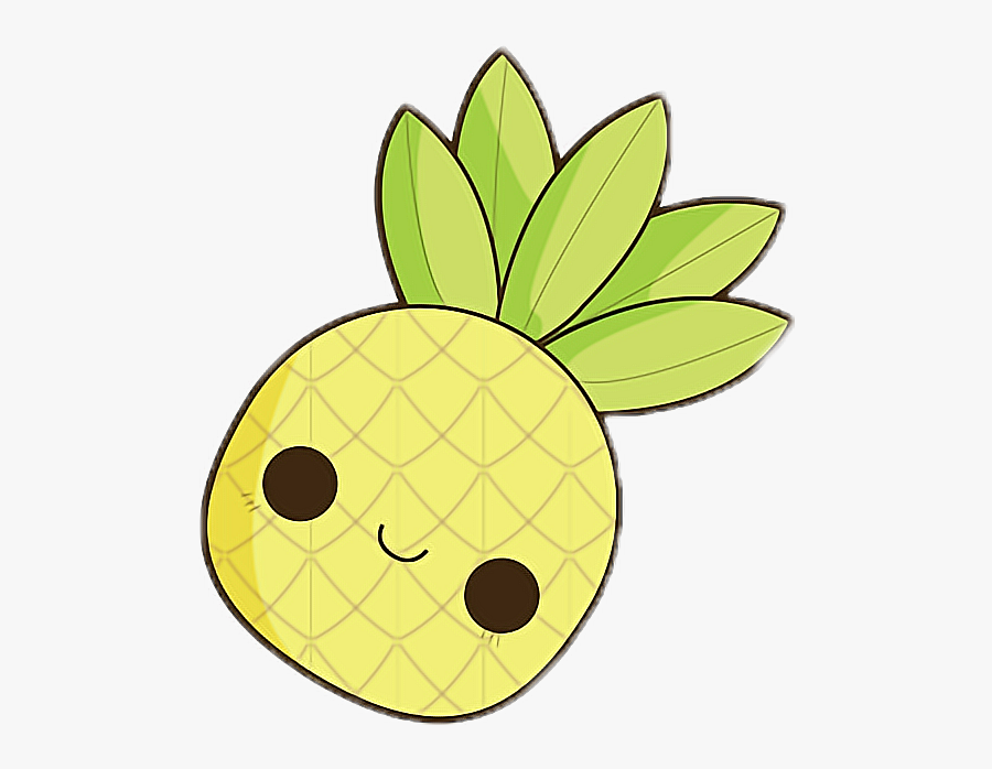 Cute Clipart Pineapple - Pineapple Cute Easy Drawings, Transparent Clipart