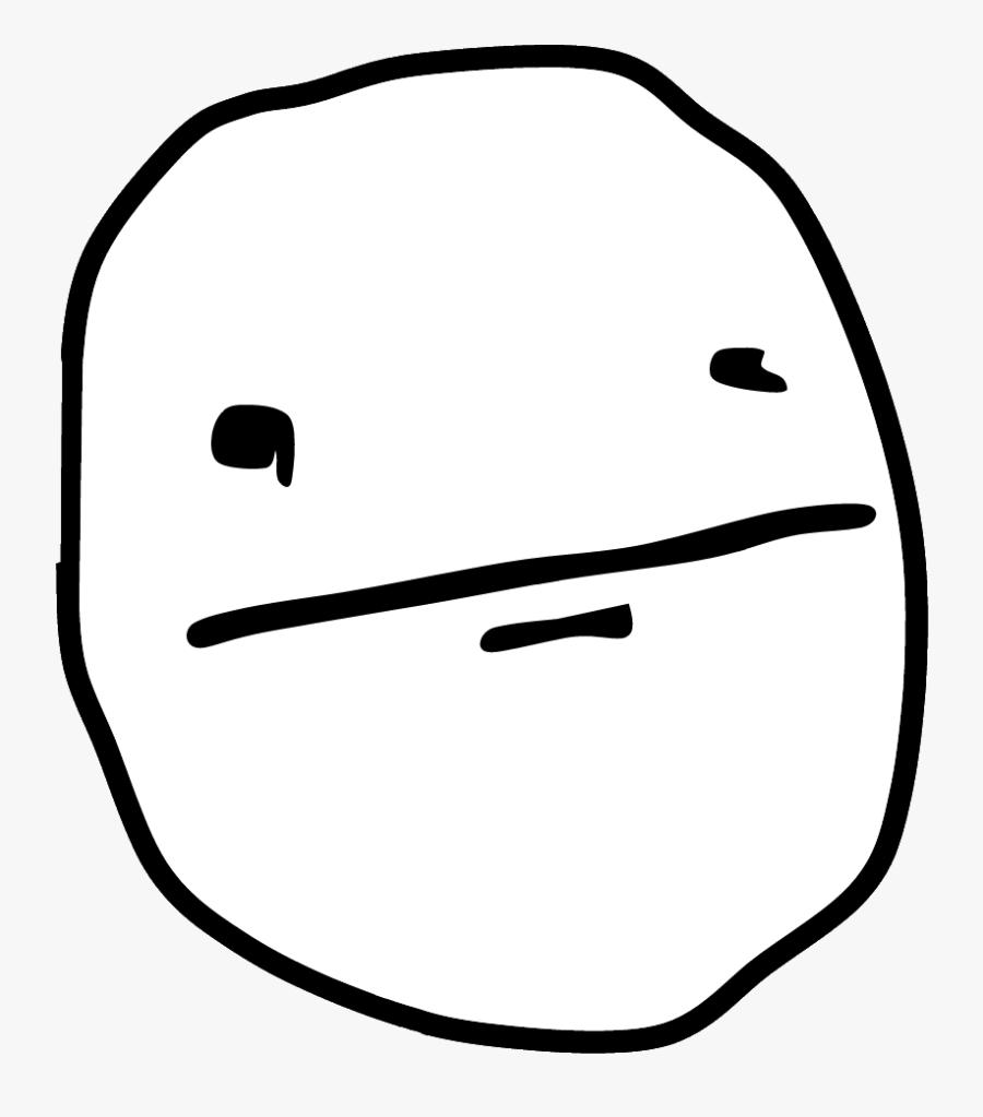 Transparent Mad Clipart - Poker Face Meme Png, Transparent Clipart