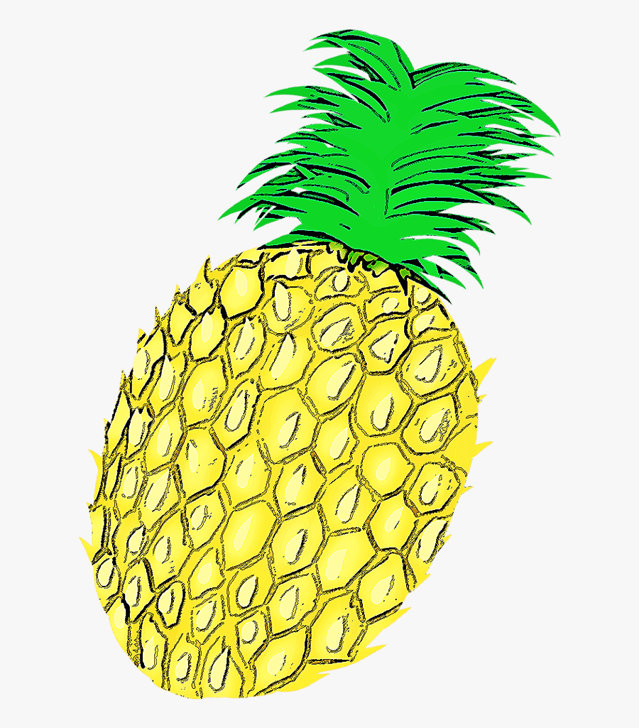 Pineapple Clipart Adorable - Seedless Fruit, Transparent Clipart