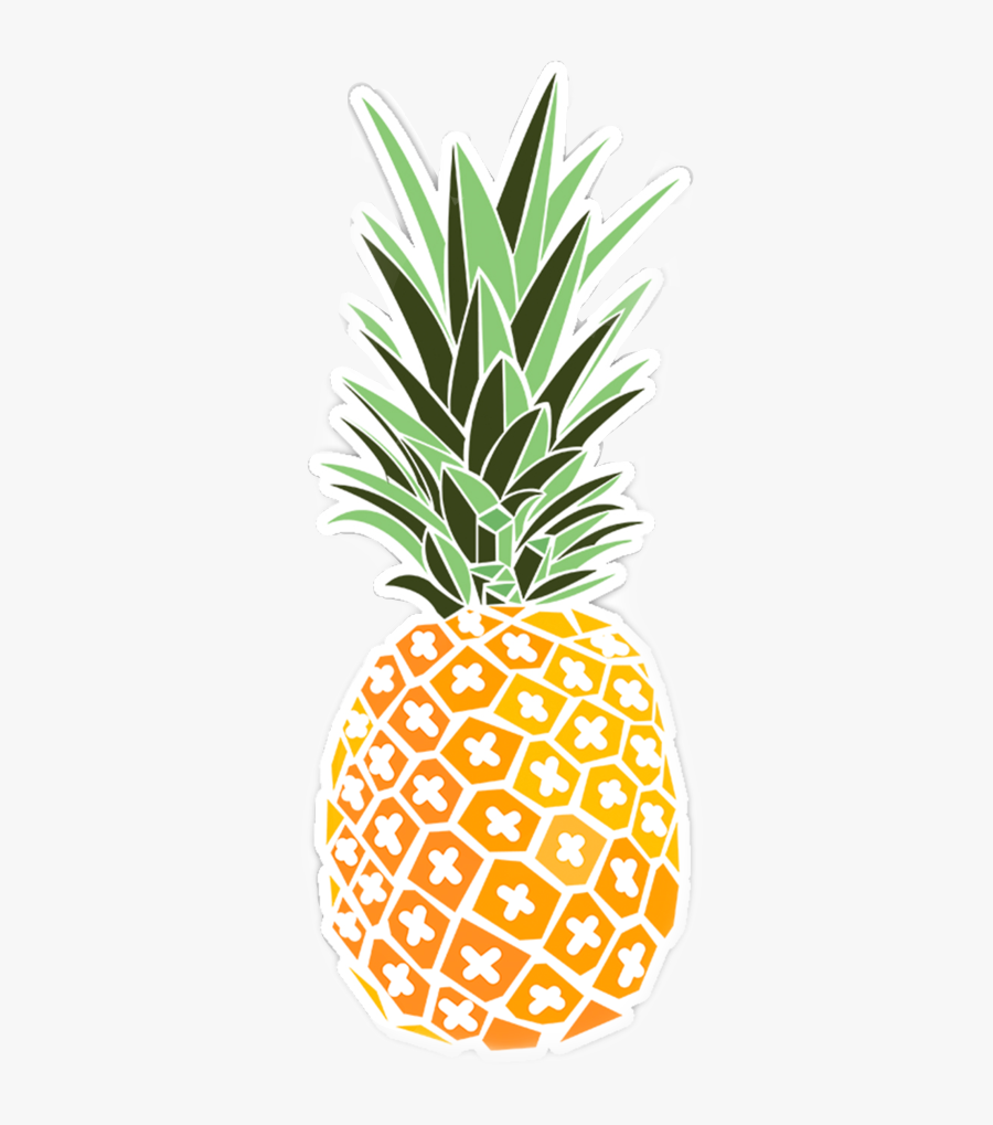 #pineapple #cute #plant #orange #freetoedit - Hydro Flask Stickers Printable, Transparent Clipart