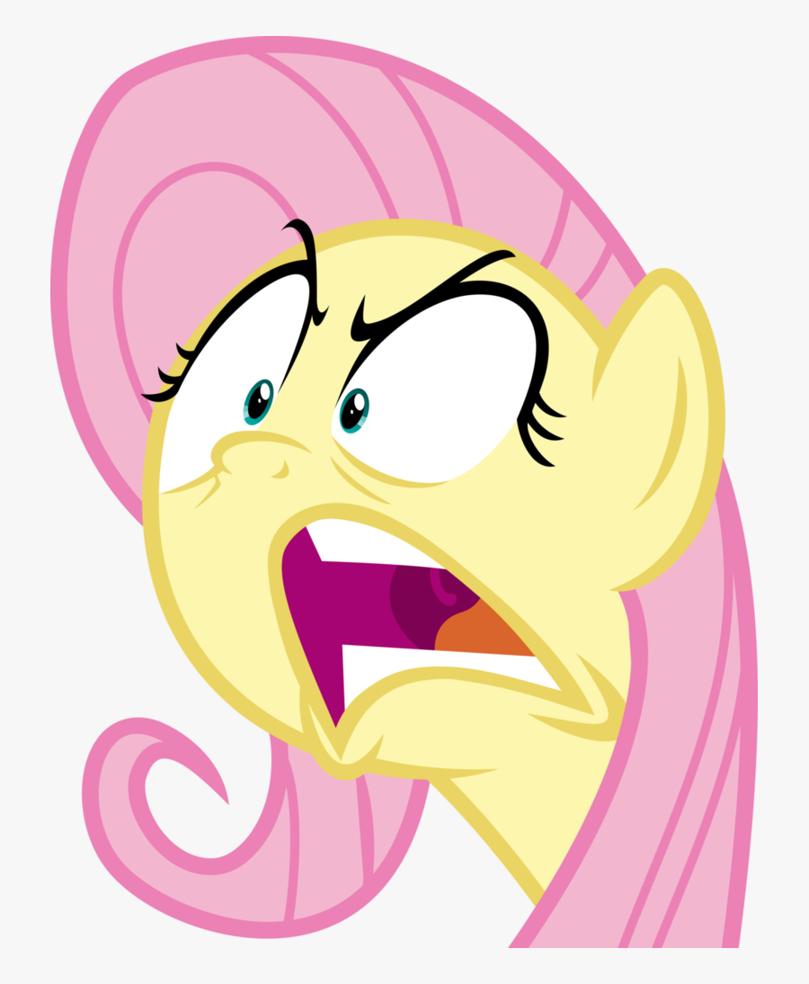 Transparent Mad Face Png - Angry Mlp Fluttershy Vector, Transparent Clipart