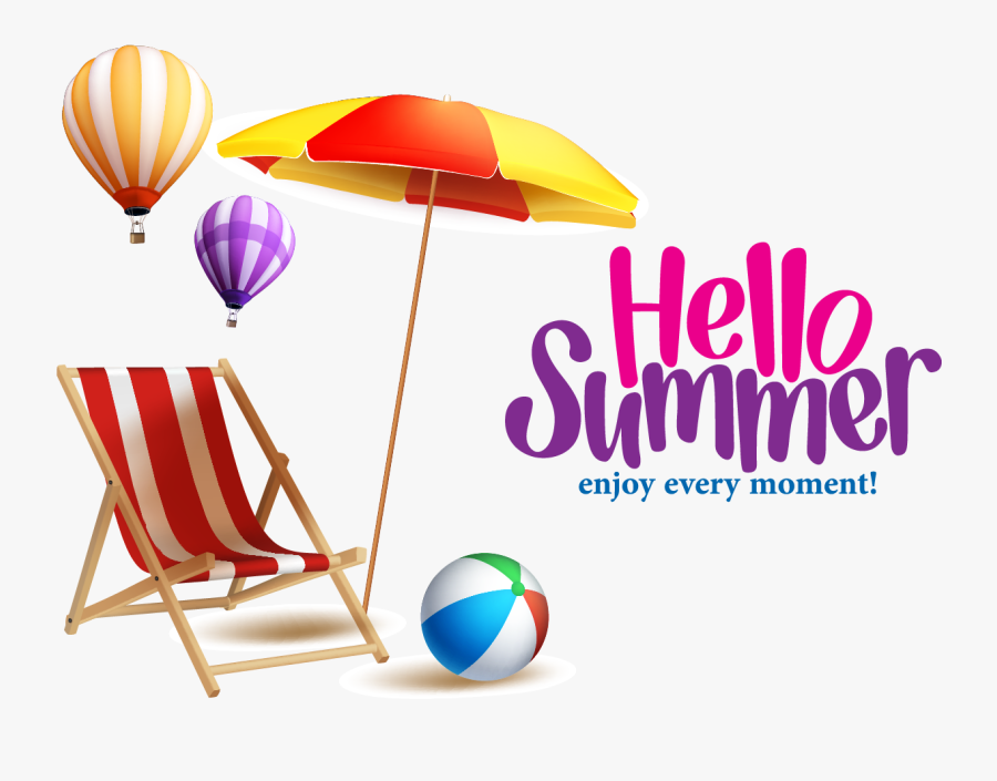 Summer Great,summer Beach Royalty-free Free Frame Clipart - Banner Background Hello Summer, Transparent Clipart