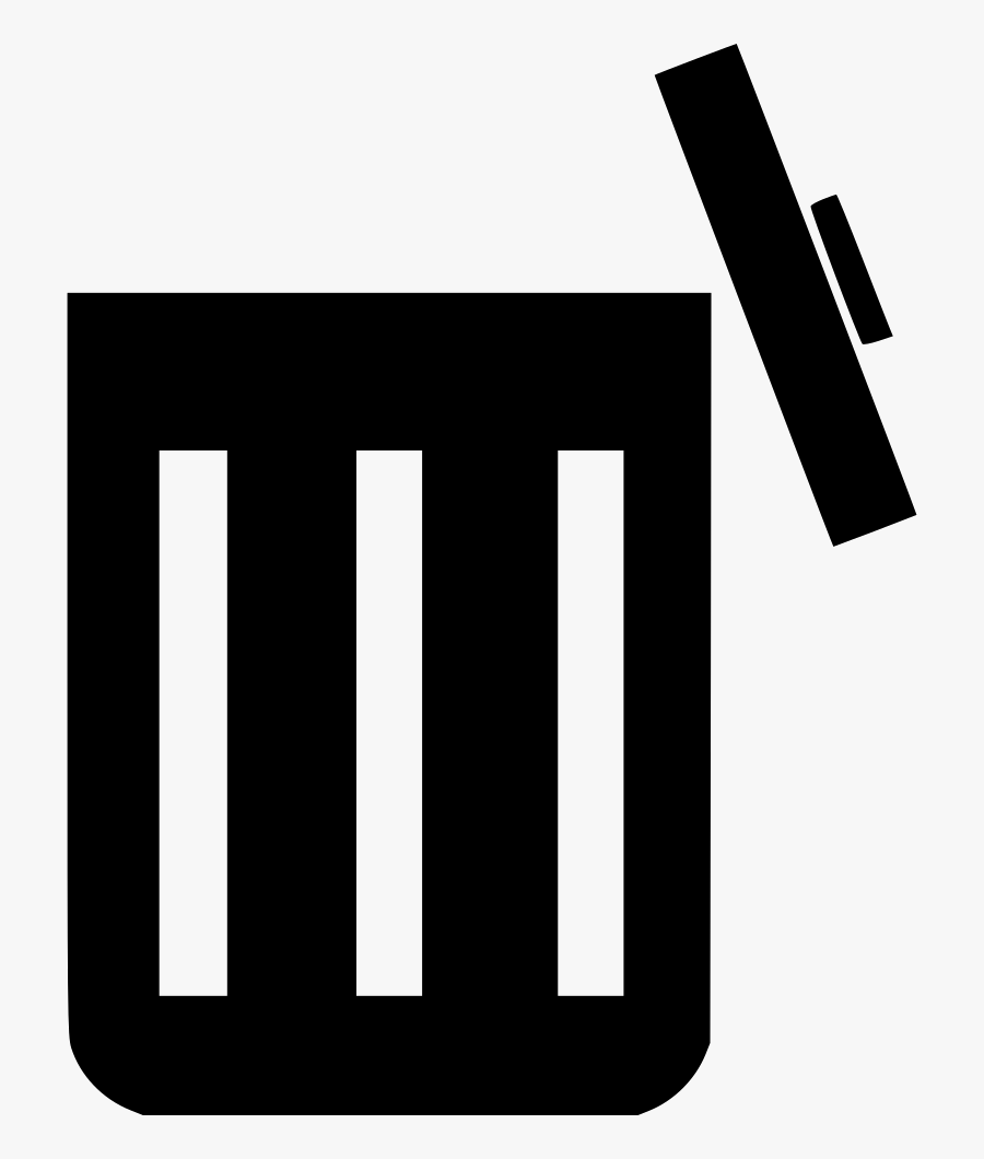 Transparent Garbage Can Clipart Free - Open Trash Bin Icon, Transparent Clipart