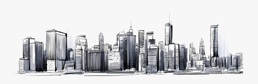 Clip Art Collection Of Free Nation - City Skyline Drawing Png, Transparent Clipart