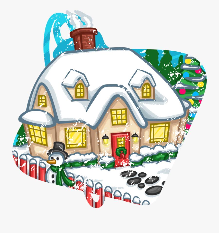 Clip Art Santas Workshop Clip Art - Santa's House Png Transparent, Transparent Clipart