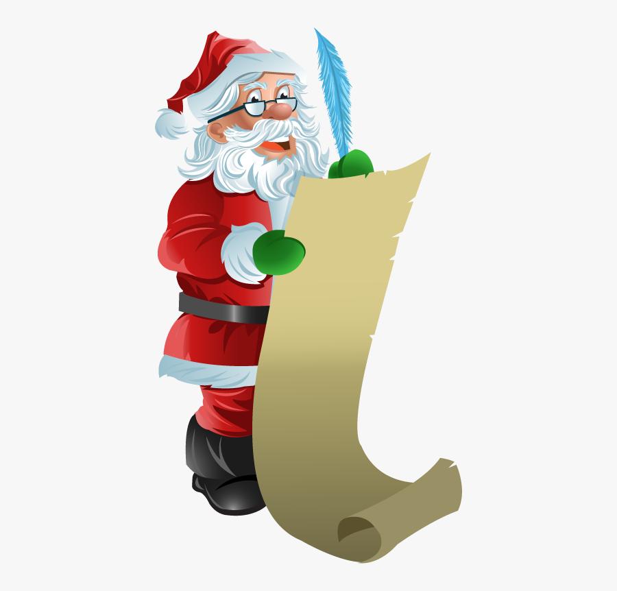 Clip Art Santa Banner Royalty Free - Santa Claus List Png, Transparent Clipart