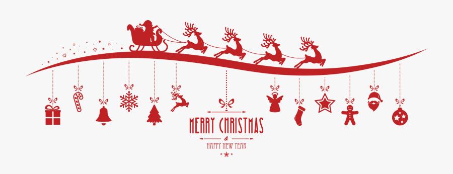 Clip Art Reindeer Christmas Clip Art - Merry Christmas Signature, Transparent Clipart