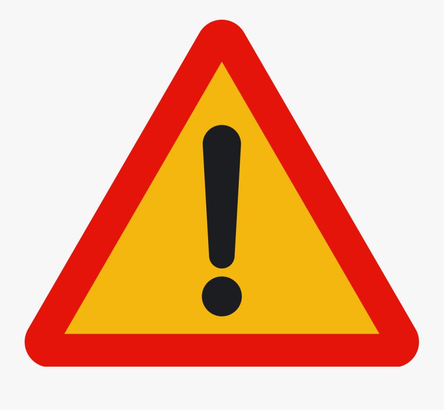 Art,cone,symbol - Other Danger Road Sign, Transparent Clipart