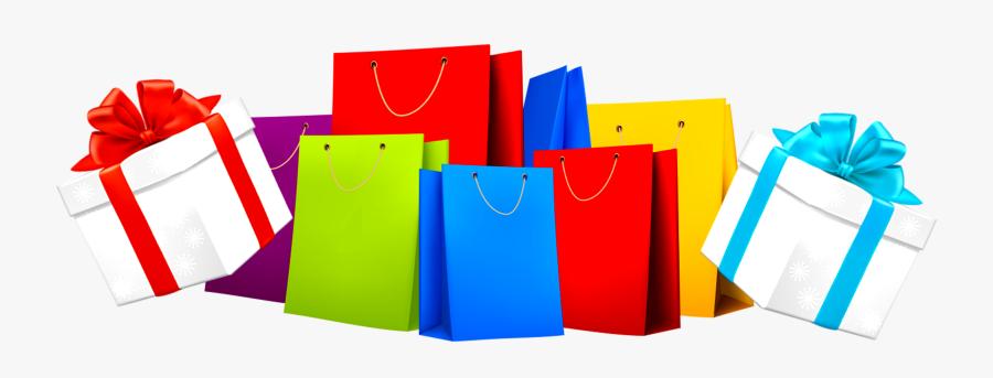 Bags Vector Gift Bag - Shopping Bag Vector Png, Transparent Clipart