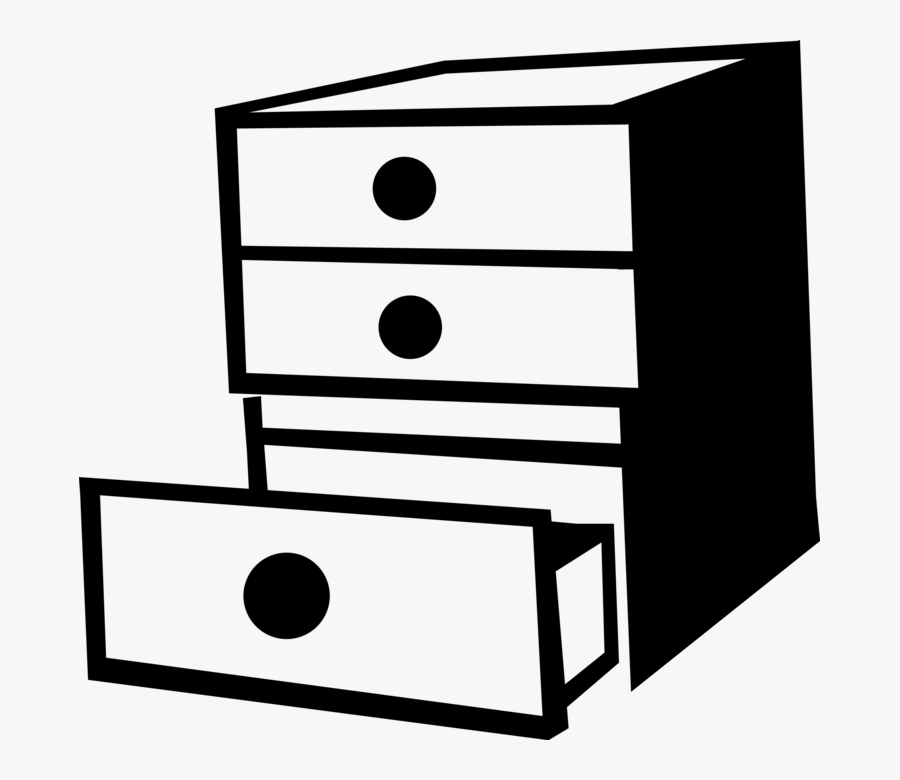 Transparent Filing Cabinet Clipart - Chest Of Drawers Clip ...