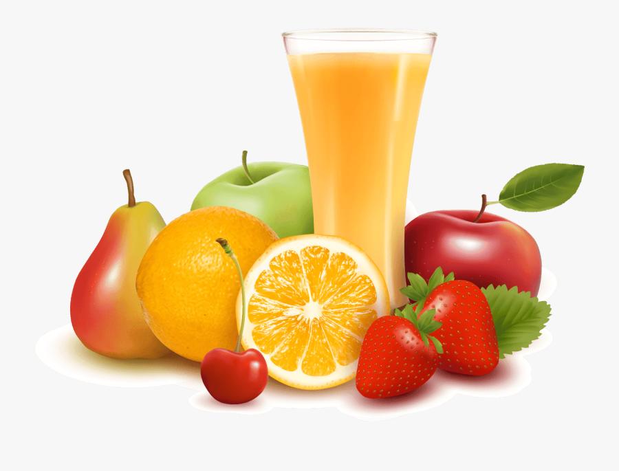 Fruit Juice Vector Png, Transparent Clipart