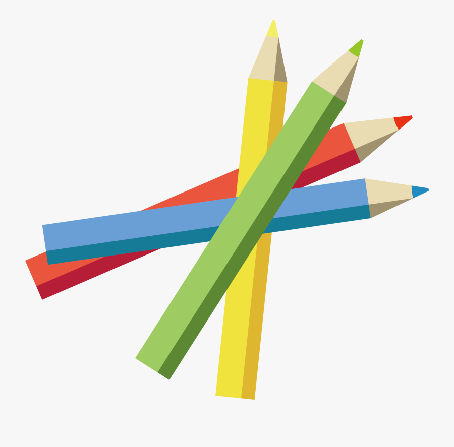 Transparent Paper Pencil Clipart Black And White - Color Pencil Vector Png, Transparent Clipart