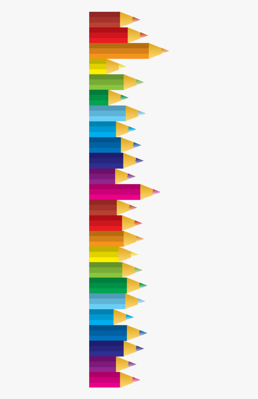 Pencil Colored Pencils Clipart Transparent Images Free - Transparent Colored Pencil Border, Transparent Clipart