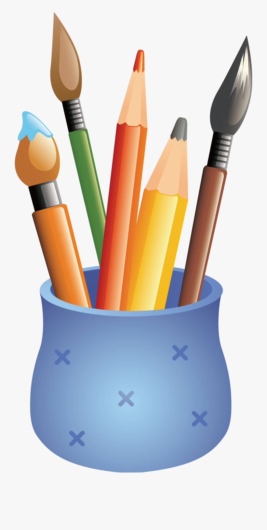 Svg Transparent Stock Bananas Drawing Colored Pencil - Colour Pencils Drawing Png, Transparent Clipart