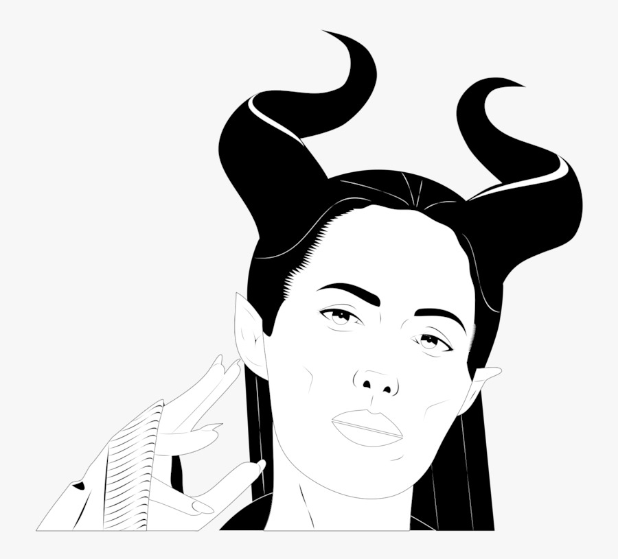 Collection Of Free Maleficent Drawing Color Pencil - Gaya Rambut Pria Karton, Transparent Clipart