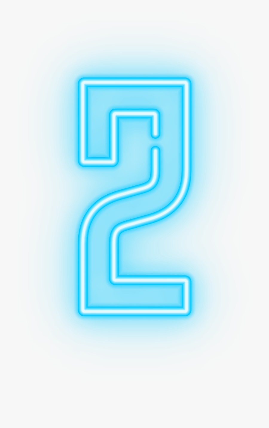 Neon Number Transparent Clip - Blue Neon Numbers Png, Transparent Clipart