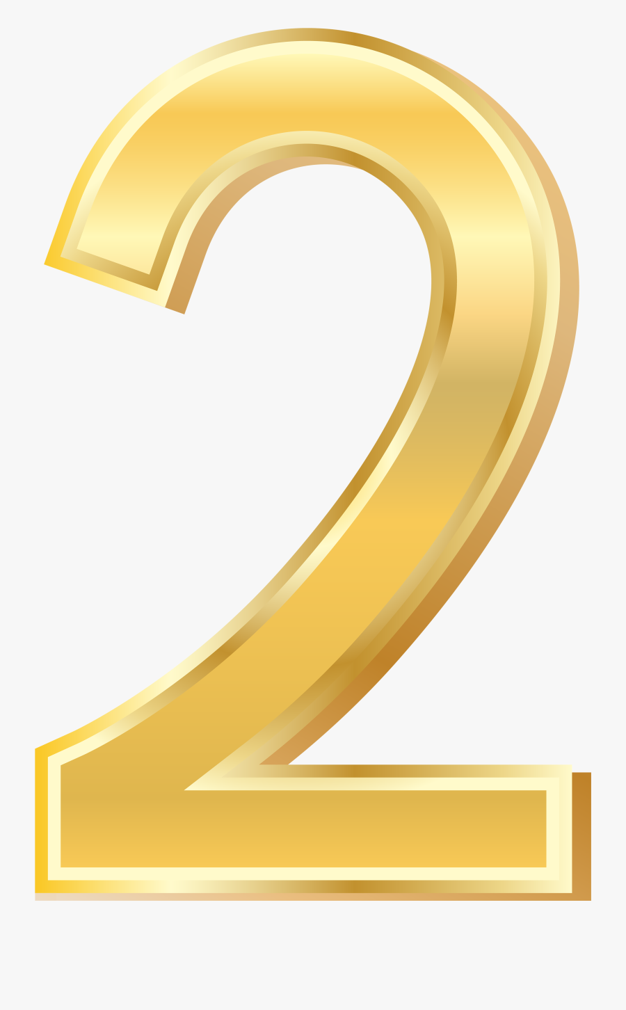 Gold Number Two Png, Transparent Clipart
