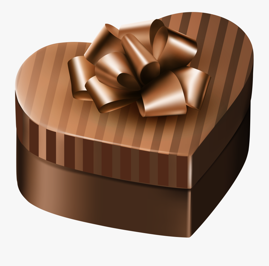 Luxury Gift Box Brown Heart Png Clipart Image - Purple Gift Box Clip Art, Transparent Clipart