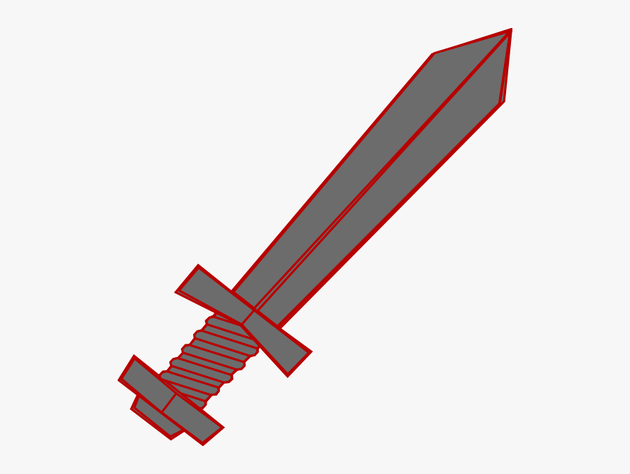 Clip Art At Clker - 2 Swords Crossing Red, Transparent Clipart