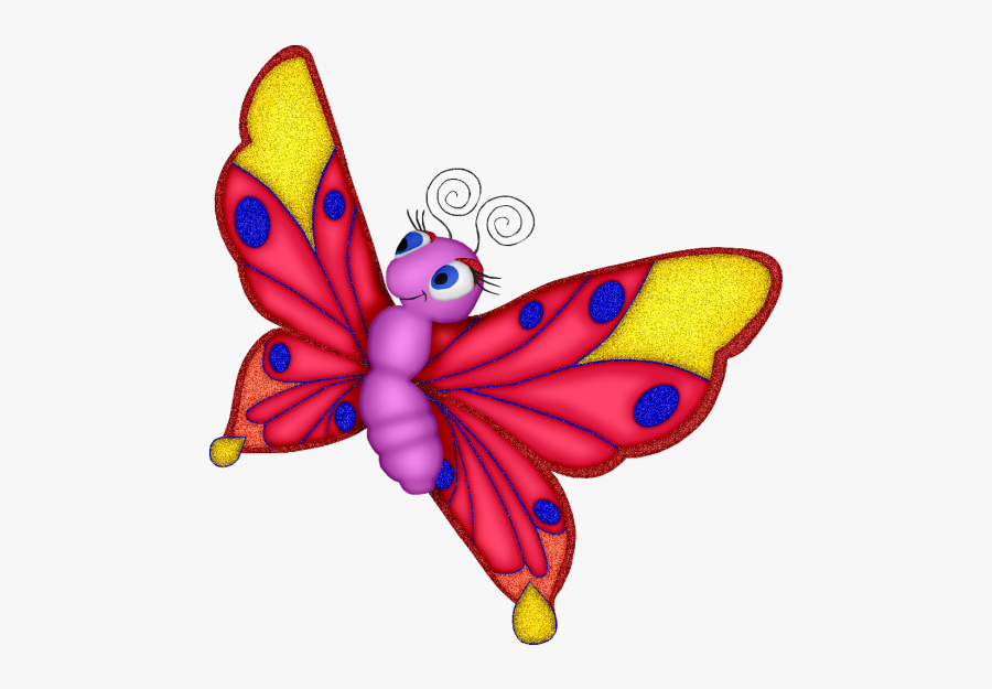 Butterflies Cartoon, Transparent Clipart