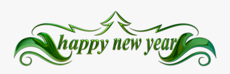 Happy New Year Text 4 - Happy New Year Kpop, Transparent Clipart