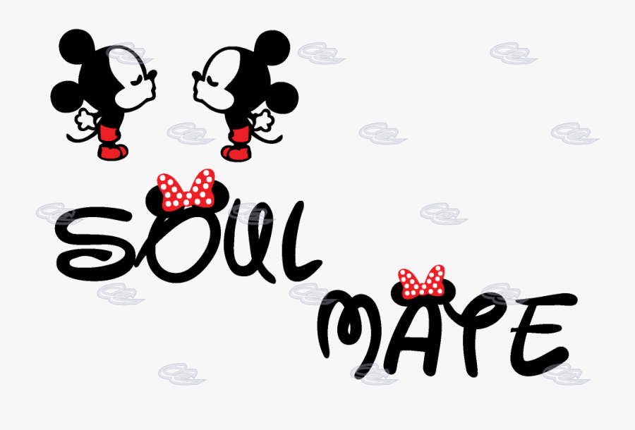 Mickey Mouse Minnie Mouse T-shirt Soulmate The Walt - Mr And Mrs Mickey Mouse, Transparent Clipart