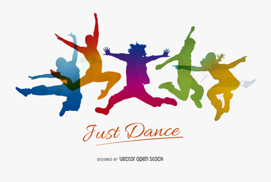 Just Dance Vector Swirl Clipart Free On Transparent Jumping Dance Silhouette Png Free Transparent Clipart Clipartkey